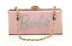 Judith Leiber Pink Satin For Barbie Swarovski Clutch Bag