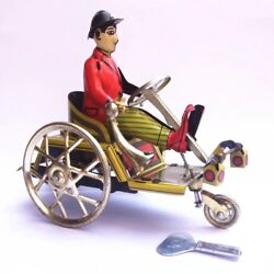 Vintage Style Tin Toys Antique Robots Wind Up Home Decor Metal Craft Bicycle Man