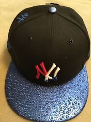 NY Yankee red white and blue Raindrop baseball cap...fitted