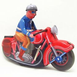 Antique Style Tin Toys Robots Wind Up Toys Children Home Decor Metal Motorcycle