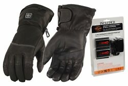 BEST Leather Milwaukee Electric Heated Men Gloves For Cold Weather XL Motorcycle
