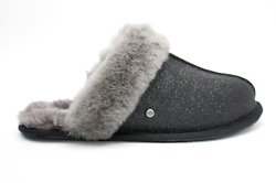 UGG Scuffette II Sparkle Women Sheepskin Slippers Slides Black NEW Authentic