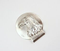 Rare Vintage And Co Sterling Silver Eagle Money Clip
