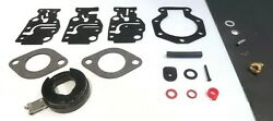 Carburetor Repair Kit Includes Mounting Gaskets, Needle And Valve Seat, And Hardware