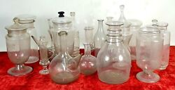 Collection Of 17 Pieces Of Blown Glass. Spain. Xix Century.