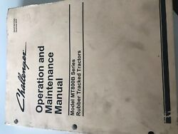 Challenger Operation And Maintenance Manual Model Mt800b Series Rubber Tracked
