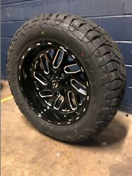20x10 Fuel D581 Triton 33 At Wheel And Tire Package 8x6.5 Dodge Ram 2500 3500