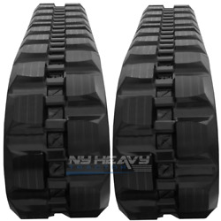 Two Rubber Tracks For John Deere Ct329d 329d 400x86x56 Block Tread Free Shipping