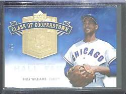 2005 Upper Deck Hall Of Fame Class Of Cooperstown Gold Cc-bw2 Billy Williams