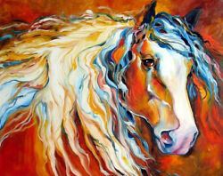 Modern abstract oil painting horse HD printed on canvas L1826