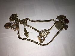 Vintage Pocket Watch Chain Rare Gold Filled