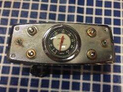 Twin Outboard Dash Plate Assembly Airguide Speedometer