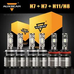 6x AUXBEAM LED Headlight H7 H11 Canbus Fog Temperature Control for Audi A3 A4 Q5