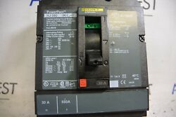 SQUARE D HJL36030 HJ060 3P 600V 30 AMP LUG TO LUG POWERPACT CIRCUIT BREAKER-NEW*
