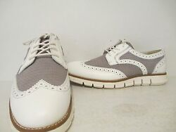 Gbx Mens Hurt 13577 Leather Lace Up Oxford Casual Dress Shoes White Size 7.5 8 9