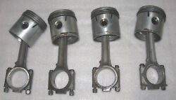 Sunbeam Alpine Series I And Rapier 1494 Engine Piston And Connecting Rod Set Rootes
