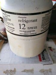 FULL R12 Refrigerant cylinder tank R-12 30lbs. Chargette
