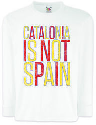 Catalonia Is Not Spain Kinder Langarm T-shirt Freedom For Free La Independence