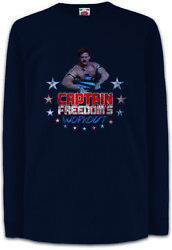 Captain Freedomand039s Workout Kinder Langarm T-shirt Running Gym Man Commercial