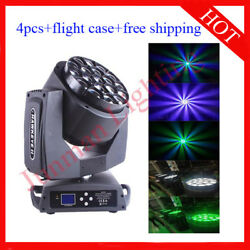 1915w Rgbw 4 In 1 Led Bee Eyes Beam Wash Moving Head Light 4pcs With Case