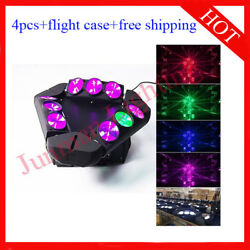 912w Rgbw 4 In 1 Led Beam Moving Head Dj Disco Stage Light 4pcs With Case