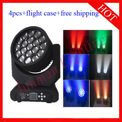 1915w Rgbw 4 In 1 Led Beam Wash Zoom Moving Head Light 4pcs Free Shipping