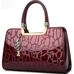 FOXER TopHandle Bags Women Handbag Leather Purse Patent Tote Shoulder Clearance