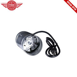 4 inch Inline Duct Booster Fan 100 CFM 7.5' Grounded Power Cord 110120V