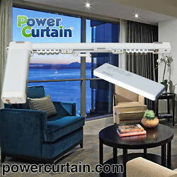 PowerCurtain S168-A 33ft to 37ft Single Straight Motorized Curtain Track System