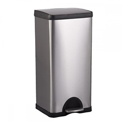BestOffice 10 Gallon 38L Step Stainless-Steel Trash Can Kitchen S38