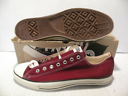 Converse All Star Ct Vintage Made In Usa From 90's Men Shoes Maroon Siz 13 New