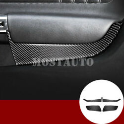 For Ford Mustang Carbon Fiber Front And Rear Car Door Panel Trim Cover 2015-2019
