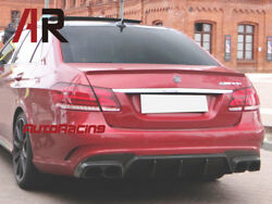 Ba Style Carbon Fiber Rear Diffuser Fit 2014-2016 W212 E63 Amg Facelift Only