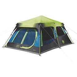 Coleman 10-Person Family Camping Tents Dark Room Instant Cabin With Rainfly