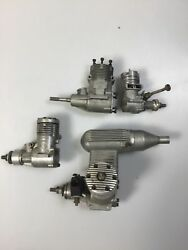 4  VINTAGE RC AIRPLANE GAS ENGINES for PARTS OR REPAIR
