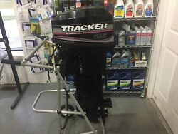 2005 25 HP MERCURY TRACKER OUTBOARD 2-STROKE LONG SHAFT REMOTE STEER NO CONTROLS