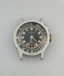 1930andrsquos Vintage Welsbro One Button Chronograph Watch Andndash A Michel 1710 - Rare