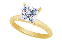 Christmas Special 2 ctw Solitaire Ring in 14k Yellow Gold