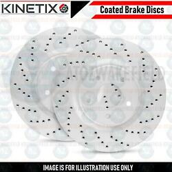 FOR JAGUAR XF XE F PACE REAR DRILLED PERFORMANCE BRAKE DISCS PAIR 325mm