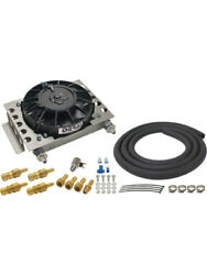 Derale Remote Trans Cooler And Fan Kit -6an, 12.75 X 9.375 X 4.312 13950