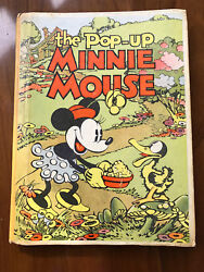 The Pop-up Minnie Mouse Walt Disney - 1933 - Vintage Hardcover Book - Rare