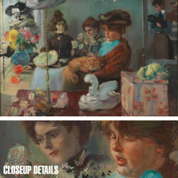 36wx24h At The Milliner By Pierre-georges Jeanniot - Choices Of Canvas