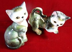 CATS Ceramic Figurine Set of 02 Marks - Collectible