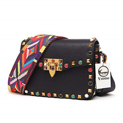 Yoome Mini Crossbody Bag Designer Clutch for Women Rivets Bags with Colorful Bag