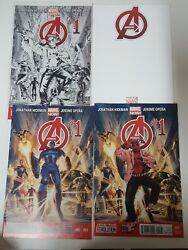 Avengers Comic Lot Of 4 1 Marvel Now 1 Variants 3 Deadpool And Sketch Nm Bb