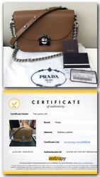 PRADA ARCADE Saddle Bag NWT Chain Crossbody Strap Purse Certified Authentic NEW