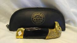 Franklin Mint The Great American Eagle Black Onyx and Gold Collector Knife