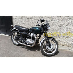Exhaust Complete 2in2 Mass Hot Rod Kawasaki W 650/800 Approved Made In Italy