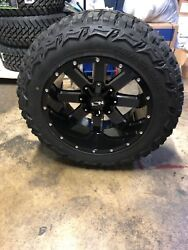 5 20x12 Ion 141 Black 35 Mt Wheel And Tire Package 5x5 Jeep Wrangler Jk Jl