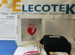 Recertified Physio Control Lifepak 1000 With Alarmed Cabinet 5 Years Warranty